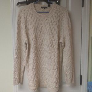 Jeanne Pierre Light Beige Cable Knit Sweater New